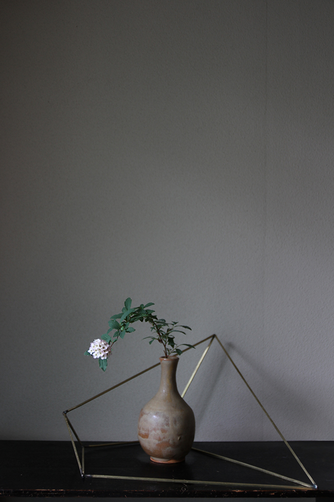 真鍮 花器